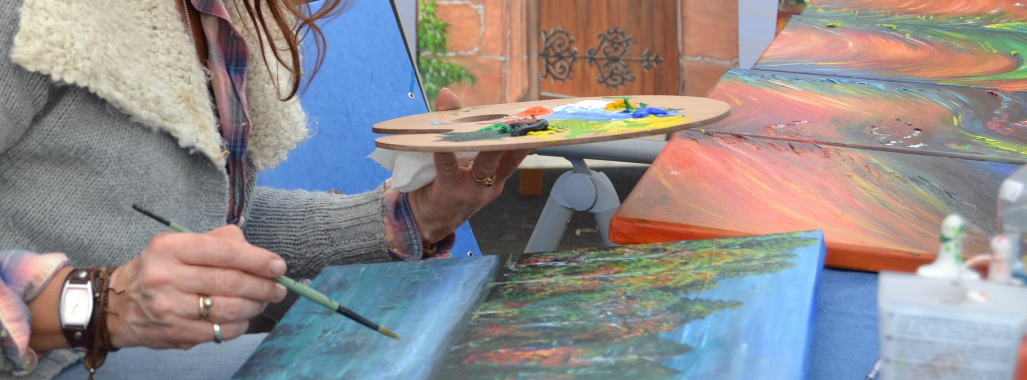 Künstler in der Hildener Innenstadt